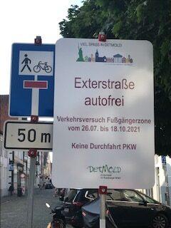 Verkehrsversuch Krumme/Exterstraße
